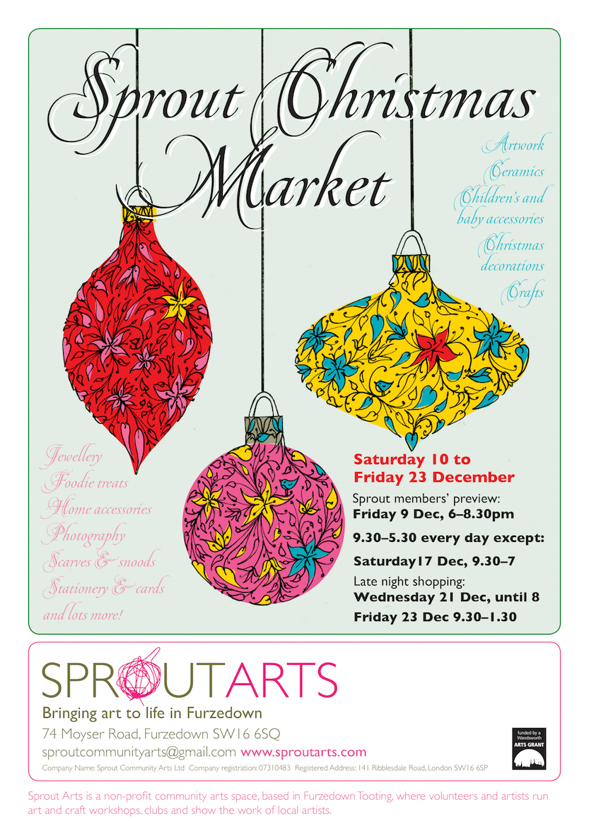 Sprout Christmas Market Poster 2016 v2
