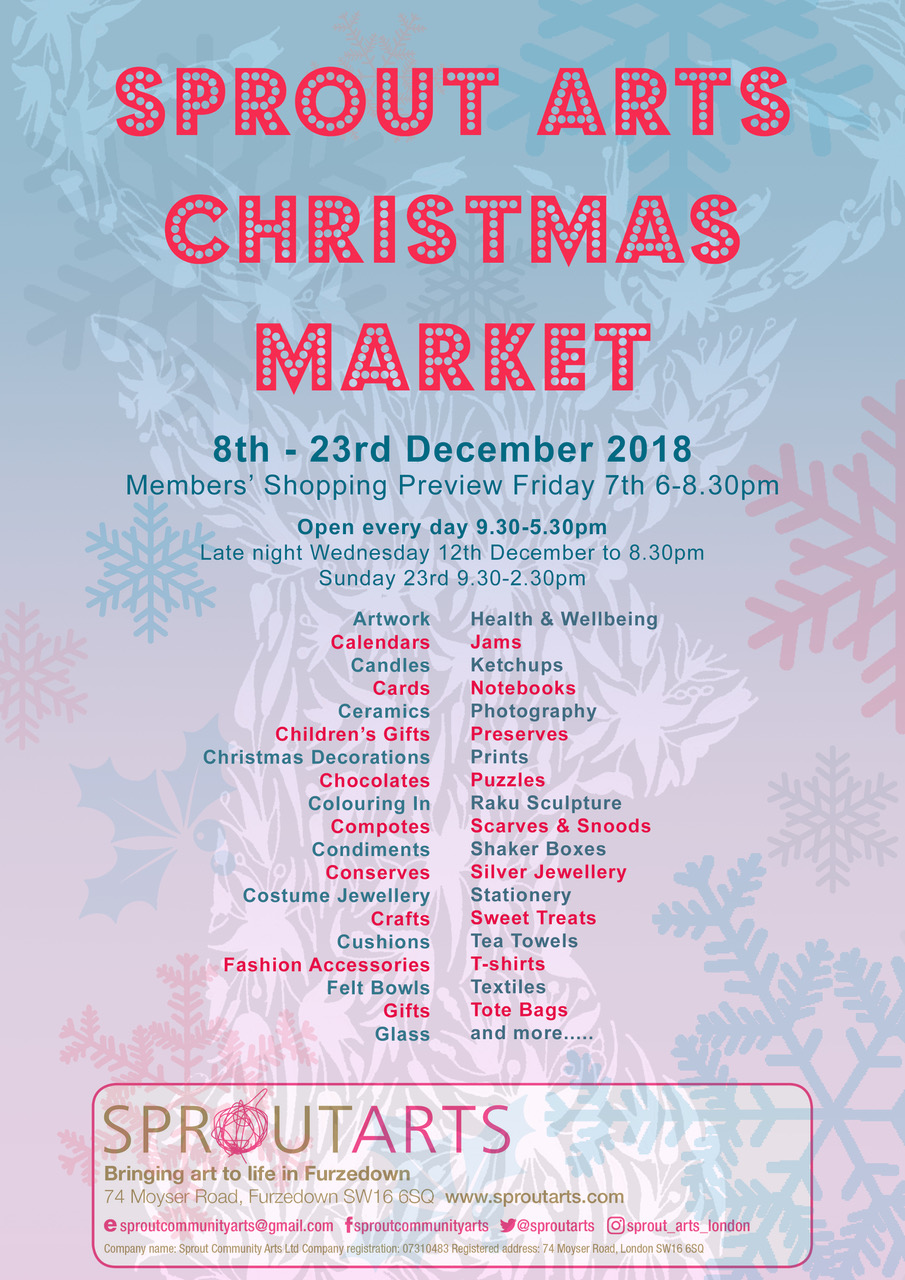 Sprout Christmas Market Poster final 2018